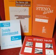 verschiedene Steno Kurzschrift Lehrbücher -hefte