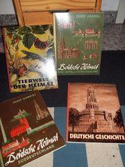 Verkaufe 4 antiquarische Sammelbildwerke Bücher