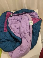 Lila-Türkisfarbener Fan-Schlafsack