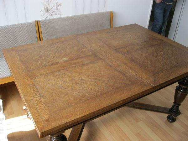 Antiquität Sehr Großer Esstisch Tisch Küchentisch Massiv Holz 4