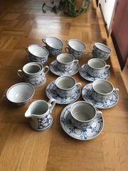 Indisch blau Porzellan Tee-und Kaffeeservice