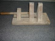 Antike Kartenpresse aus Holz