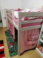 Hochbett mit Rutsche für Kinder
