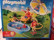 PLAYMOBIL 4140 Kompaktset Planschbecken Familie