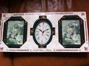 Uhr und Bilderrahmen