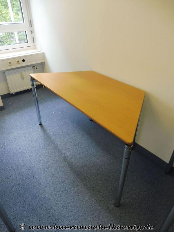 Tisch Trapeztisch In Buche Von König Neurath Gebraucht In