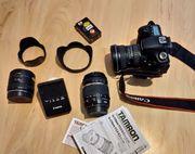 Canon Spiegelreflexkamera mit viel Zubehör