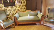 Biedermeier Sofa inkl 2 Ohrenbackensessel