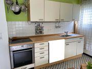 Einbauküche cremefarben buche mit Unter-