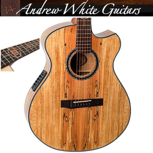 Andrew White FREJA Spalted Maple Akustikgitarre Sattel: 44, 5mm
