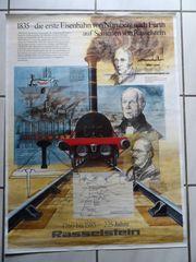 Eisenbahn - Poster Plakat - 1835 von