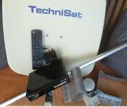 SAT-Schüssel komplett Montage mit Receiver