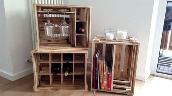weinregal weinkisten flaschenregal regal weinfalsche sektflasche in neumagen dhron. Black Bedroom Furniture Sets. Home Design Ideas