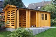 Gartenhaus Blockbohlenhaus 28 mm Wandstärke