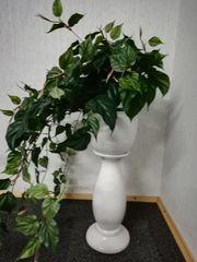 Blumensäule mit Topf aus Keramik