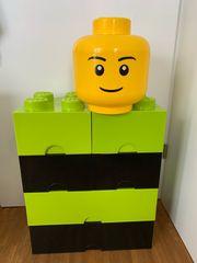LEGO AUFBEWAHRUNGSBOXEN grün schwarz