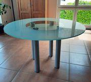 Hochwertiger Esstisch aus Glas rund