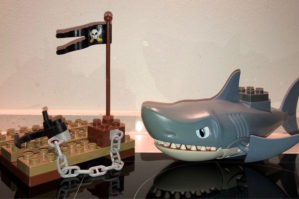 Lego Duplo Hai und Floß