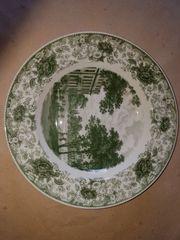 Porzellan-Essgeschirr Royal Tettau Herrenhausen grün