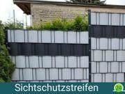Sichtschutzstreifen - Leder- Perloptik - 251cm - steingrau