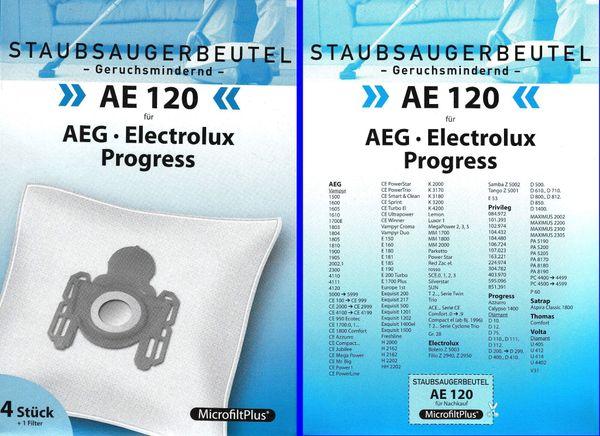 Staubsauger beutel ae120 passend für viele marken siehe Bild