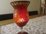 Windlicht Mosaik rot golden