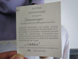 Puppe sigikid Cordelia limitiert mit: Kleinanzeigen aus Ilsfeld - Rubrik Puppen