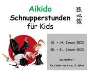 Aikido Schnuppertage für Kids