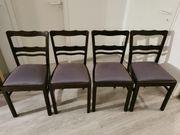 verkaufe 4 schöne dunkle Holzstühle