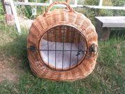 Katzenkorb Katzenhöhle Transportbox aus Weide