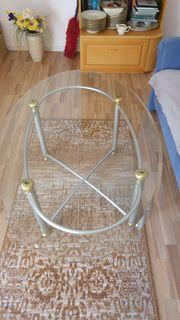 Couchtisch aus Glas Oval