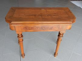 antiker Tisch, verwandelbar, Spieletisch, restauriert