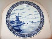 großer Delfts Teller Wandteller Schale -