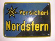 Emailleschild Versichert Nordstern