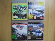 4x PS3 Spiele RACING