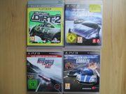4x PS3 Spiele RACING