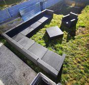 10 teilige Rattan Lounge Garten