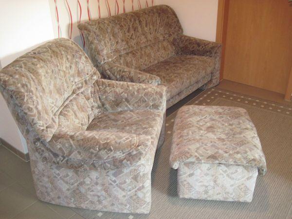 Sofa 2-sitzer Couch Sessel Hocker