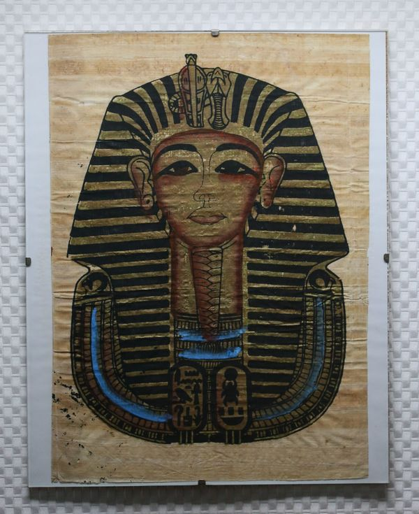 papyrus pharao tutanchamun in tigheim kunst gem lde. Black Bedroom Furniture Sets. Home Design Ideas