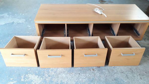 Wohnzimmer Lowboard Medien-Schrank mit 4