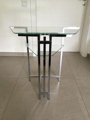 Telefontisch Beistelltisch Glastisch