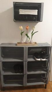 Schuhregal mit Hängeelement DIY
