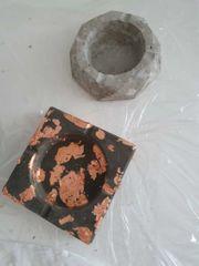 selbstgemachte Aschenbecher aus Beton