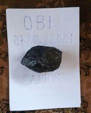 Verkauf eines Edelsteins Saphir
