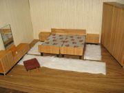 Altmann Schlafzimmer für Puppenhaus Puppenstube-Puppenmöbel