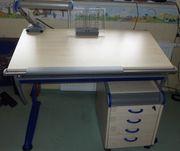 Moll mitwachsender Schreibtisch Runner blau