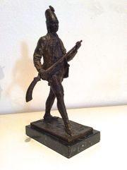 Rarität Militärische Bronzefigur Pandur