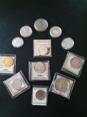 Silber Münzen mit Zertifikaten