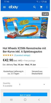 Hot Wheels Action mit 6