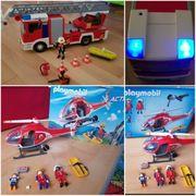 2er Set Bergrettungshubschrauber Playmobil Feuerwehr